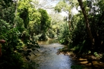 Wailua River: About to cross the river on the Hike