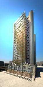 Artist's rendering of proposed 24 storey tower