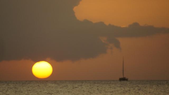 A Sail Boat on       Tamarindo Bay