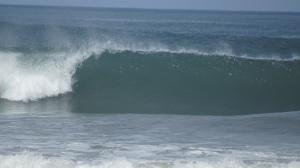 The waves of Playa Grande
