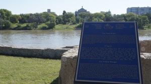 The Red River looking east to St. Boniface
