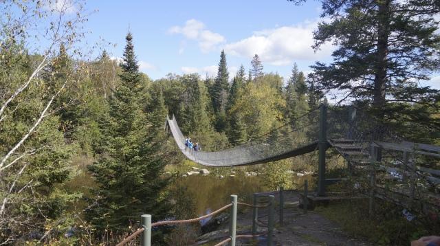 Pinawa's Swinging Bridge